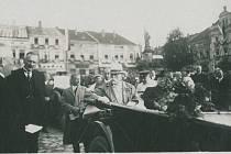 Návštěva T. G. Masaryka ve Valašském Meziříčí, rok 1930.