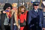 Masopustní obchůzka v Lužné na Hornolidečsku; neděle 15. února 2015.
