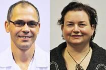 Nový primář interního oddělení Vsetínské nemocnice MUDr. Tomáš Mičkal; nová primářka hematologicko-transfuzního oddělení Vsetínské nemocnice MUDr. Jana Pelková.