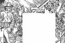 Detail z nákresu sgrafitové výzdoby.