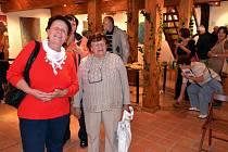 Vernisáž výstavy zlínské výtvarnice Taťány Havlíčkové, Karolinka, Soláň, Informační centrum Zvonice, 6. 10. 2012