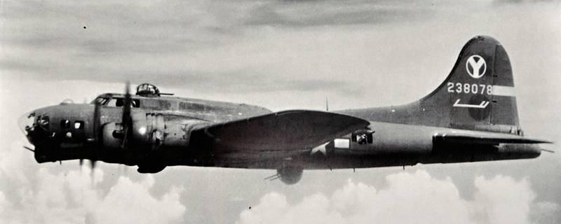 Americký bombardér B-17G.