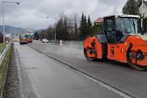 Oprava silnice I/57 ze Vsetína do Ústí.