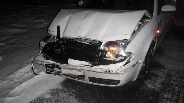 Dopravní nehoda u Ústí u Vsetína.
