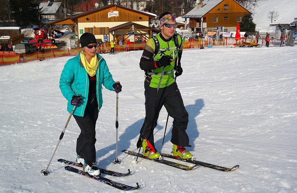 Testování skialpů.