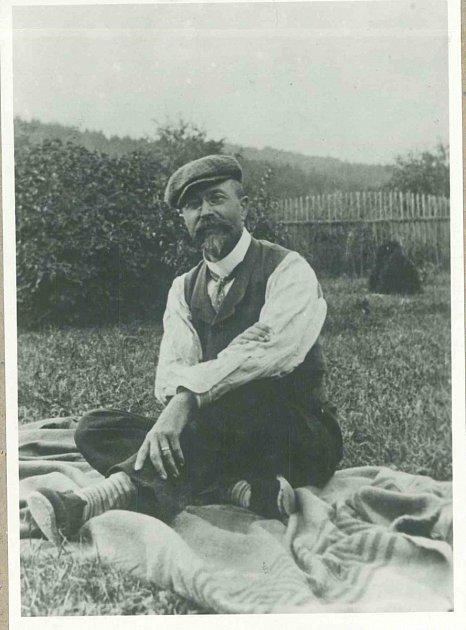 Známá fotografie T. G. Masaryka na Žabárně, počátek 20.stol.