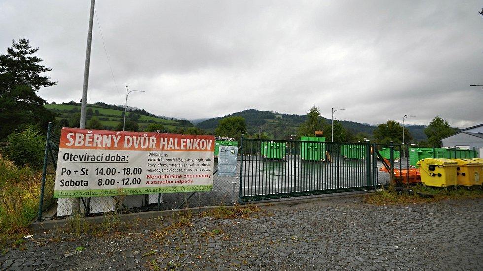 Halenkov - sběrný dvůr.