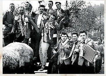 BRANCI. Rozloučení s branci v roce 1961.