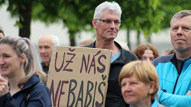 Demonstrace za nezávislost justice ve Vsetíně