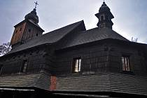 Kostelík v Dřevěném městečku v Rožnově pod Radhoštěm. Ilustrační foto.