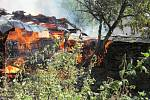 Požár včelích úlů v Ratiboři na Vsetínsku.