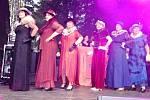 Den města Zubří, módní show k sedmdesátinám zdejšího Klubu žen; sobota 7. září 2019