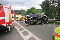Dopravní nehoda u Bobrk.