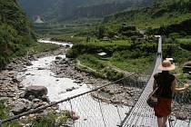 Krásná krajina chráněné oblasti  Annapurny