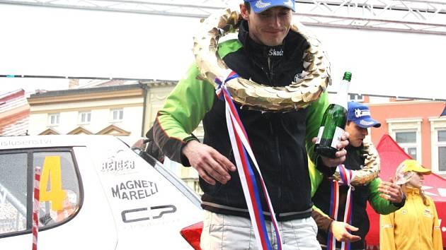 Jan Kopecký, vítěz Valašské rally 2011.