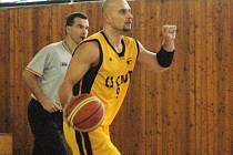 Meziříčský basketbalista Michal Večeřa. Ilustrační foto.