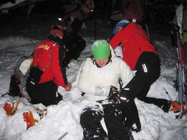 Členové Horské služby Beskydy při fyzických prověrkách a školení.