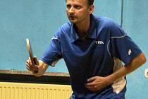 Vsetínský stolní tenista Štefan Sagáčik.