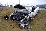 Nehoda na světelné křižovatce na silnici I/35 u Zubří