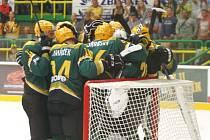 Hokejisté Vsetína porazili v 1. kole WSM ligy Ústí nad Labem.