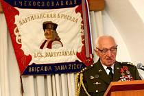 Slavnostní setkání 1. československé partyzánské brigády Jana Žižky k 70. výročí osvobození Československa ve Vsetíně.