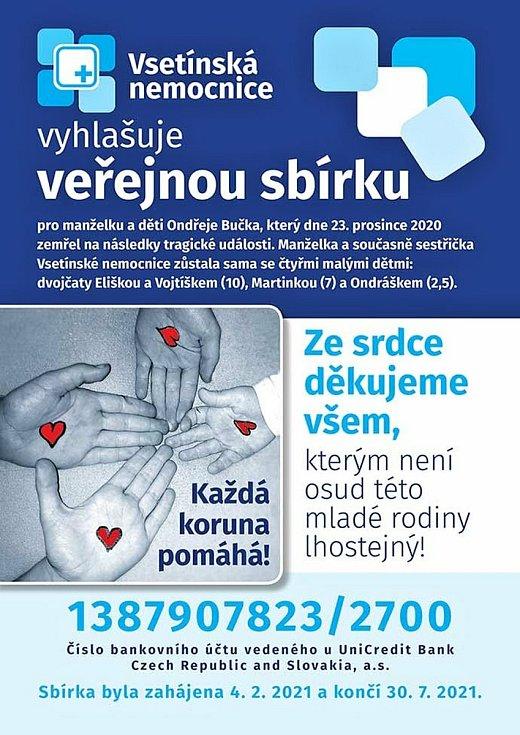 Součástí online koncertů z Domu kultury Vsetín je i dobročinná sbírka pro sestřičku Vsetínské nemocnice.