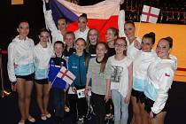 Zuberské gymnastky na mistrovství světa na Faerských ostrovech.