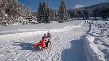 Na sjezdovce Horal se v sobotu rozjede snowtubing, trvají výborné podmínky pro běžky