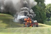 Požár řezačky způsobila technická závada