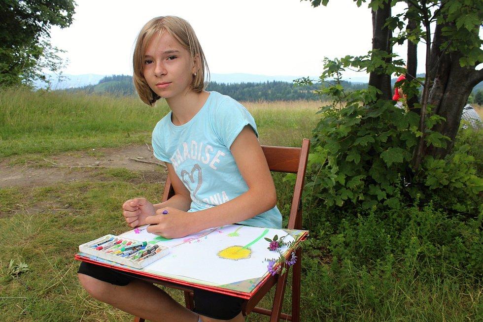 Amatérští výtvarníci se první týden v červenci 2019 sešli pojedenácté na Soláni. Stráví tu týden v Malířské škole.