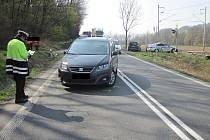 Likvidace následků srážky čtyř vozidel v Jablůnce; pondělí 8. dubna 2019