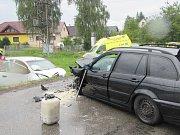 Nehoda u Lačnova si vyžádala čtyři zraněné