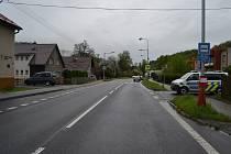 Nehoda mezi chodcem a renaultem ve Vsetíně