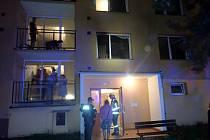 Požár bytu ve Vsetíně Rokytnici