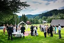 Svatební obřad v Resortu Valachy.