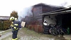 Požár dílny v Huslenkách