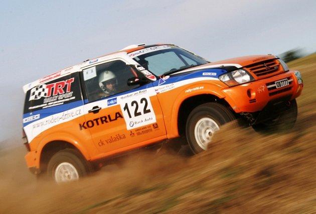 Posádka Viktor Chytka - Pavel Vaculík na trati rally v Maďarsku.