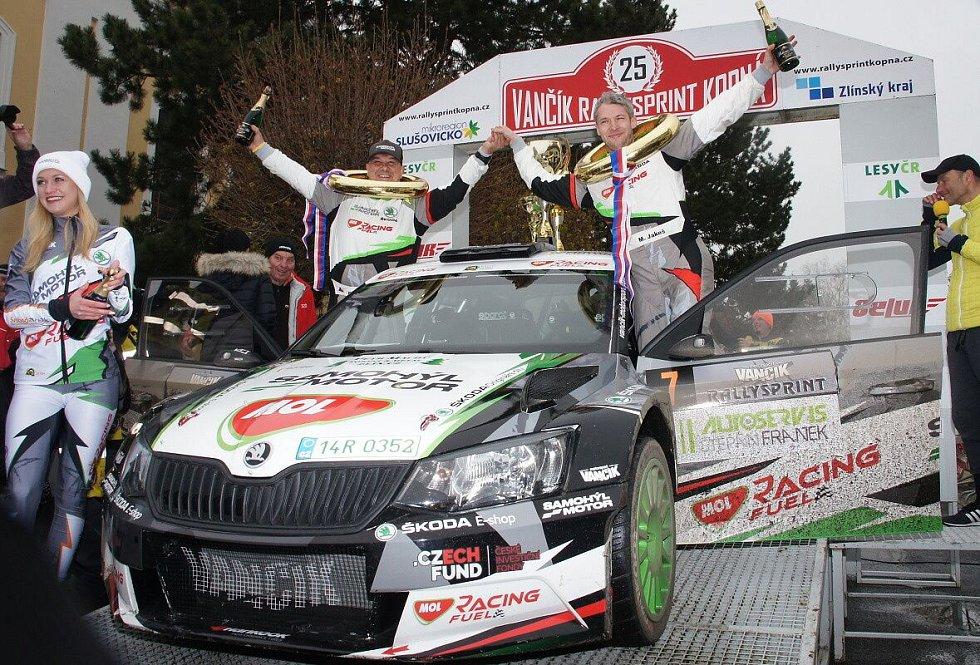 Rallysprint Kopná 2019 - vítězná posádka Jakeš - Machů