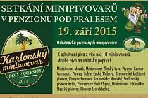 Plakát k setkání minipivovarů v penzionu Pod pralesem ve Velkých Karlovicích.