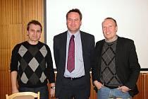 Předseda OFS Vsetín Martin Straka (uprostřed)