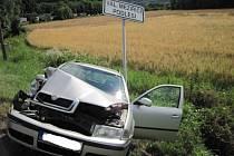Dopravní nehoda u Valašského Meziříčí.