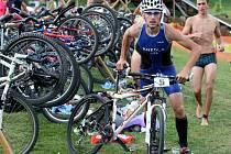 Mini triatlon Valachy Man v Nové Hrozenkově.