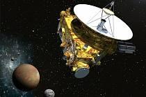 Umělecká představa sondy New Horizons.