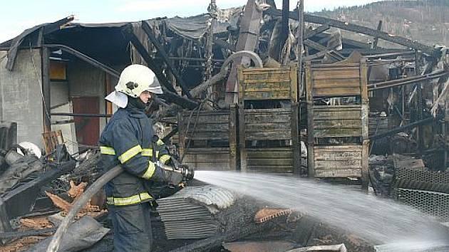 Požár ve Vsetíně