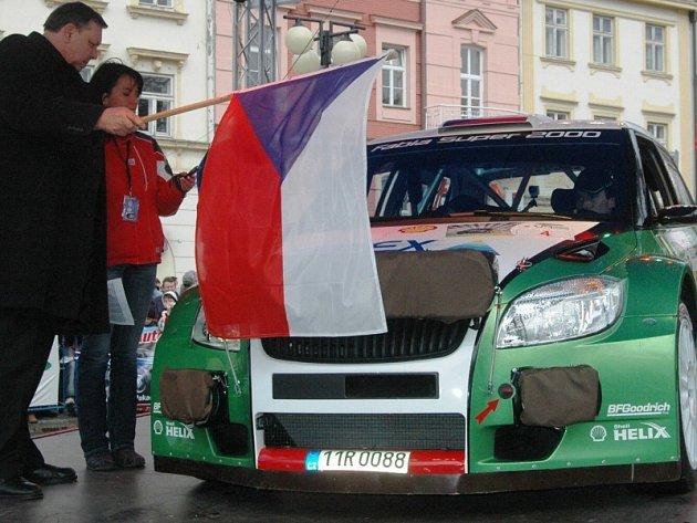 Startovní č. 4 Kopecký – Starý, Škoda Fabia S2000.