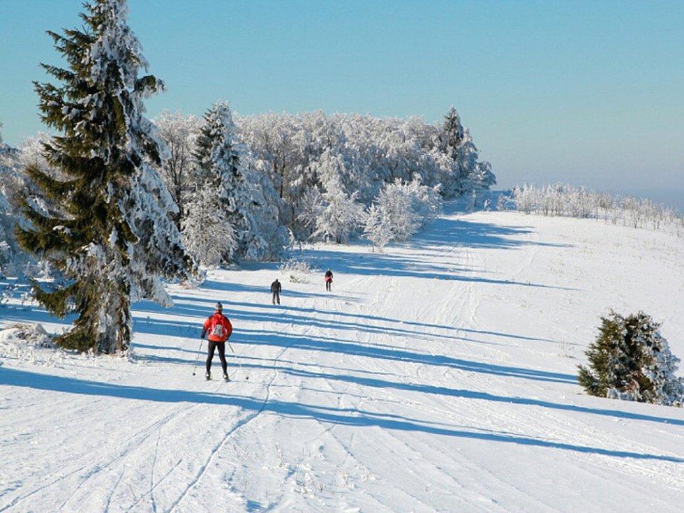 Zimní dovolená ve Velkých Karlovicích: běžecké tratě.
