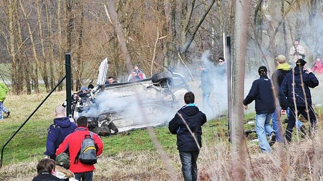 Exkluzivní snímek jen pár sekund po havárii.