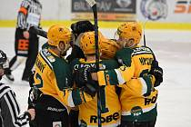 Hokejisté Vsetína v sobotu proti Kadani vstřelili sedm branek.