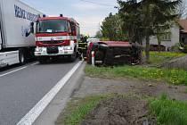 Silně opilá řidička havarovala ve středu (29. 04.) krátce po desáté hodině dopoledne nedaleko Valašského Meziříčí.