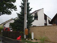 Požár rodinného domu v Rožnově pod Radhoštěm